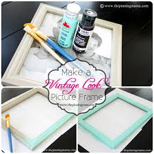 ... How To Make A Vintage Picture Frame With Dry Brush Technique The Photo  Details - From