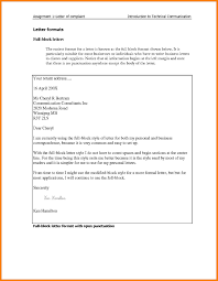 Block Form Business Letter Example Of Letter Of Complaint To A Business Valid Full Block Format