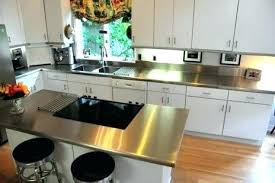 stainless steel island top kitchen for custom sheet metal projects countertops toronto