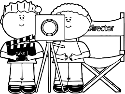 Small Picture Kids Directing Behind Movie Camera Kids Directing Kids Coloring