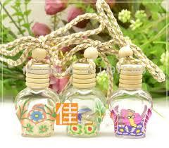 How To Decorate Perfume Bottles Wholesale 100PCS 100ml Refillable Car hang decoration Glass essence 28