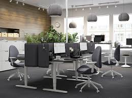 ikea for office. A Black And Grey Office With The Height-adjustable, Sit/stand BEKANT Desk Ikea For W