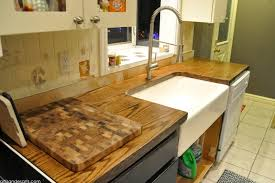 diy wood door butcher block countertops under 100