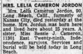 Obituary for LELIA CAMERON (Aged 90) - Newspapers.com