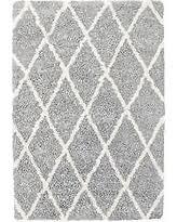 Carpet Art Deco Loft Shag 7X10 Gray Trellis Indoor Area Rug Comm