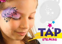tap 054 crown tap face painting perfect for the busy face painter and for those wanting to keep their kit small stencils are fun and easy to use for face