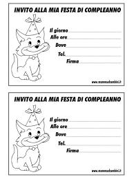 Biglietti Invito Compleanno Con Gatto Mamma E Bambini