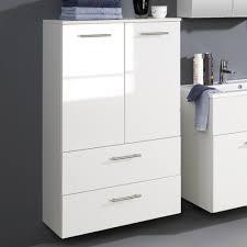 Badezimmerschrank Weiß Hochglanz Schrank Regal