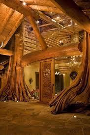 Nice Maison Avec Poutres En Tronc Du0027arbre
