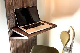 simple and narrow wall mounted folding laptop desk for small spaces ideas
