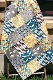 Quilt, Baby Boy, Crib Bedding Blanket Grey Teal Blue Brown Yellow ... & Quilt, Baby Boy, Crib Bedding Blanket Grey Teal Blue Brown Yellow Nursery  Cot Yellow Adamdwight.com
