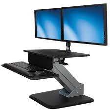 Computer Monitor Display Stands Best SitStand Workstation Dual Display Mount StarTech