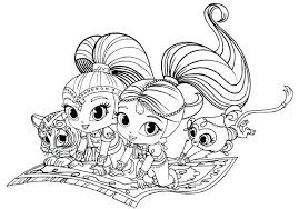 Shimmer And Shine Coloring Pages Easy Best Of Colouring