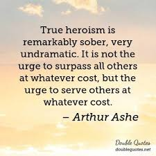 Arthur Ashe Veterans Day Quotes Double Quotes Simple Arthur Ashe Quotes