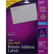 Avery Return Address Inkjet Label White 600ct Products