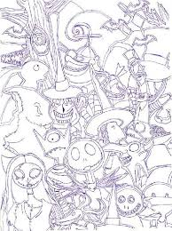 Free Printables Nightmare Before Christmas Coloring Pages Swifteus
