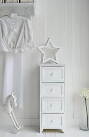 The Maine Slim Chest Of Drawers In White Bedroom Furniture For Great Bedroom  Storage