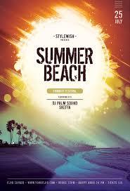 Beach Flyer Summer Beach Flyer On Behance