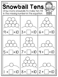 Winter Kindergarten Math and Literacy Worksheet Pack | Literacy ...