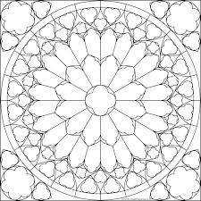 Spring Stained Glass Coloring Pages Stained Glass Window Coloring