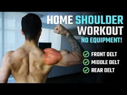the best shoulder workout at home for