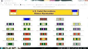 Army Jrotc Ribbon Chart Military Awards Rack Builder Artscans Co