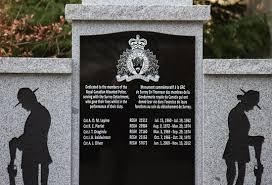 surrey detachment fallen members memorial rcmp veterans 2014 photograph of the memorial for fallen members at the main entrance to surrey