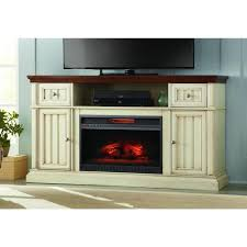 home decorators collection montauk s 60 in tv stand electric fireplace in antique white
