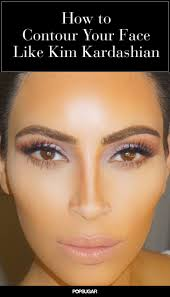 want to learn how to contour your face like kim kardashian try these contouring and highlighting tricks a slimmer nose and perfectly chiseled cheekbones