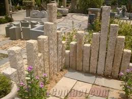 garden pillars.  Garden Chinese Natural Yellow G682 Granite Garden Decor PalisadesStone Pillars Monolith In N