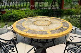 49 outdoor patio garden round table mosaic marble stone