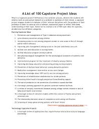 capstoneprojectideas com a list of capstone project ideas capstoneprojectideas com a list of 100 capstone project ideas what is a capstone