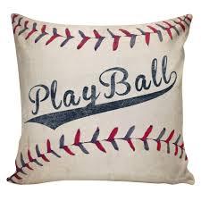 Elliott Heath Designs Play Ball Cushion Covers Baseball Pillows Boys Pillows