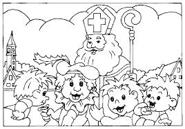 Kleurplaat Sinterklaas Leuke Sint Kleurplaten Printen Sinterklaasfm