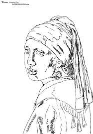 Disegno Di Ragazza Con Orecchino Di Perla Di Johannes Vermeer Da