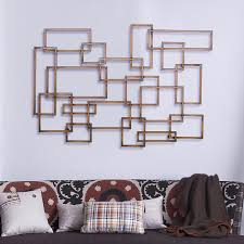 geometric metal wall decor sculpture
