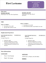 Simple Resume Templates Cool Sample Of A Simple Resume Format Best