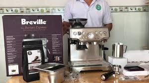 Đập hộp máy pha cà phê Breville 870 có những gì - YouTube