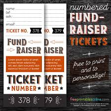 Fundraiser Ticket Template Free Download Fascinating Numbered Fundraising Ticket Template Free Printables Online