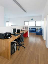 home office simple. Captivating Home Office With Long Wood Table Next To Wall Also Corner Sofa Set Simple S