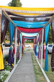 Small Picture Indian wedding outdoor walkway at wedding house decorated using