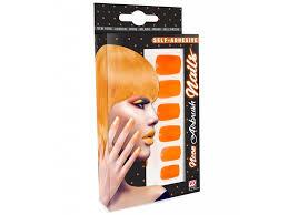 Oranžové Umělé Nehty