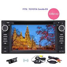 For TOYOTA Corolla Android 5.1 Quad Core 2 Din Car DVD Player GPS ...