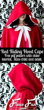this red riding hood cape pattern comes together quickly and comes in child and sizes