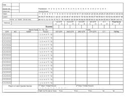 Golf Score Card Template Golf Score Card Template