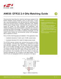 An0002 Efm32 Hardware Design Considerations An930 Efr32 2 4 Ghz Matching Guide