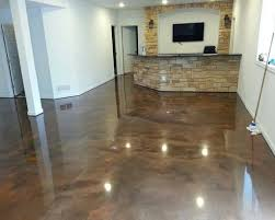 Ideas For Cement Floors Flooring For Basement Polished Concrete Floor Acid Stained Photo