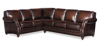 leather sectional sofa traditional. Interesting Traditional L121500 Traditional Two Piece Leather Sectional Sofa With Rolled Arms And  Nailhead Trim By Craftmaster Intended B