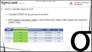 Sigma Level The Most Important Statistical Term In Six Sigma