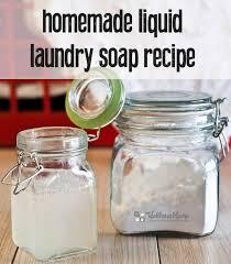 homemade liquid laundry soap recipe